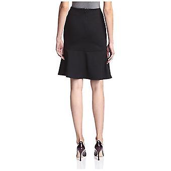 SOCIETY NEW YORK Women's Peplum Skirt, Black, L