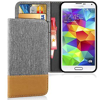 Denim Mobile Shell for Samsung Galaxy S5 Shockproof Phone TPU Mobile Case Magnet