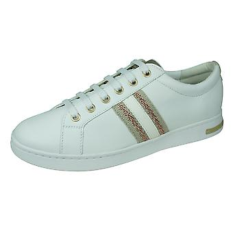 Geox D Jaysen A Womens Leather Trainers / Shoes - White