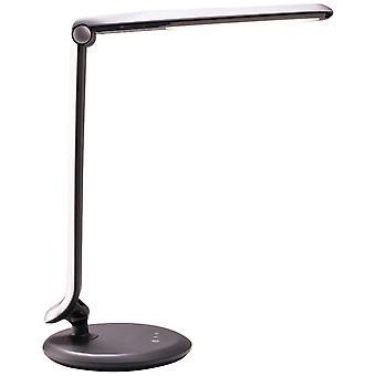 Lámpara BRILLANTE Vanita Led Lámpara de Mesa Plata ? 1x 8W LED integrado, (530lm, 4600K) Escalar A++ a E ? Con Touchdimmer