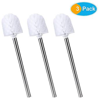 3pcs Stainless Steel Wc-bathroom Cleaning Toilet Brush Head Holder Chrome Bathroom Accessories