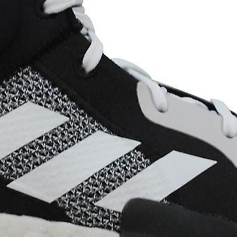 Adidas Marquee Boost Footwear White/Core Black-Aerial Blue BB9318 Grade-School
