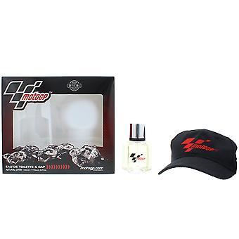 MotoGP Eau de Toilette 100ml & Cap Gift Set For Him NEW. EDT Men's