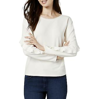 Bar III | Ruffle-ermet genser bluse