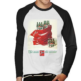 7up Christmas Sack Poster Design Men's Baseball Long Sleeved T-Shirt