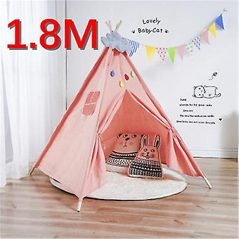 Portable's Tents Tipi Play House Kids Cotton Canvas Indian Play Wigwam Child
