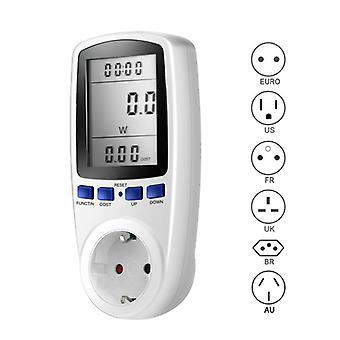 220V AC EU Digital LCD Power Meter Socket Wattage Energy Meter Wattmeter Measuring Outlet Power Analyzer