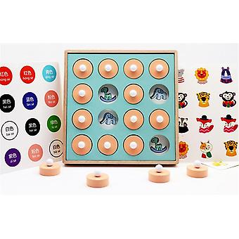 Kids Wooden Memory Match Stick Chess Game- 3d Puzzles Board Game, Educational