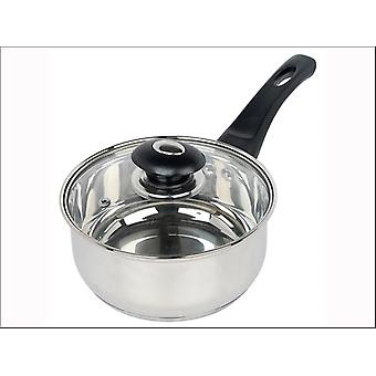 Home Cook Saucepan + Glass Lid Stainless Steel 20cm HHSS2520