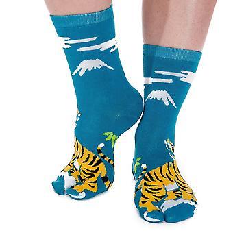 Flip Flop Socks - Tiger Pattern