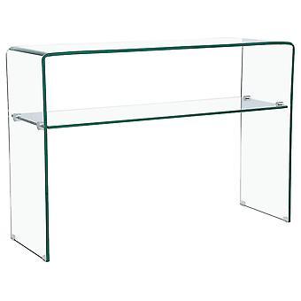 El quot 'Genova' de Mesa consola; - 110 x 35 x 75 cm - Vidrio curvado transparente