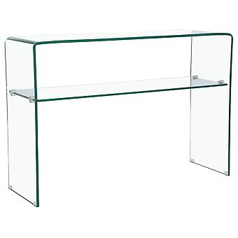 "Mesa consola ""Genova"" - 110 x 35 x 75 cm - Vidrio curvado transparent"