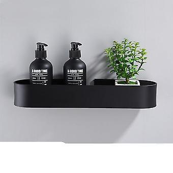 Musta kylpyhuone hylly ja keittiö seinä hyllyt suihku