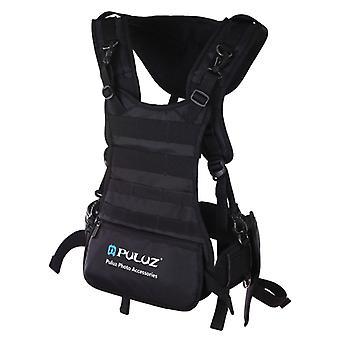 PULUZ Multi-functional Bundle Double Shoulders Padded Strap Waist Belt Holder Holster for SLR / DSLR Cameras