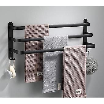Cintre de serviette de porte-serviette -mur monté l'espace, de l'aluminium