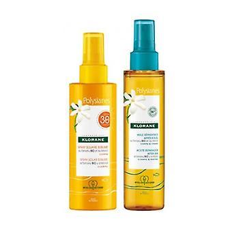 Polysianes sublime sun spray spf 30 200ml + aftersun repair oil 150ml 1 unit