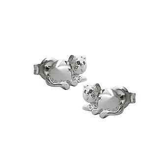 Nasta korvakorut Kissa Rhodium päällystetty hopea 925