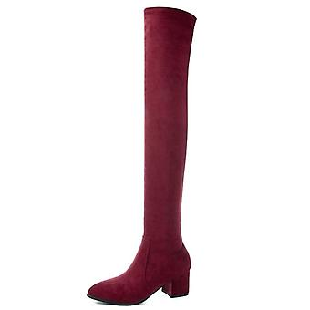 Fashion Thigh High Boots Winter Over Knee Shoes Sexy High Heels