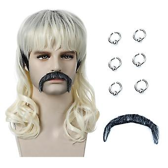 Tiger King Wig Joe Exotic European and American Style Wig Men's Synthetic Wigs