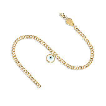 Bracelet Evil Eye Links Full 18K Gold