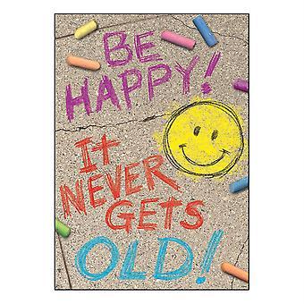 """Sei glücklich! Es wird nie alt! Argus Poster, 13.375"""" X 19"""""""