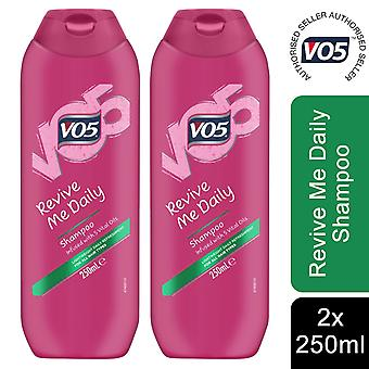2x of 250ml VO5 Revive Me Daily Shampoo With 5 Vital Oils For All Types Of Hair