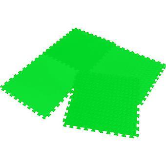 Puzzle matto Eva 60x60x1.2cm, asetettu 4 kappaletta Enero vihreä