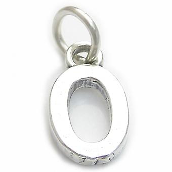 Script Letter O Initial Sterling Silver Charm .925 X 1 Letters Charms - 4267