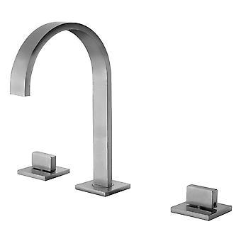 Alfi Marca Ab1336-Bn Brushed Nickel Gooseneck Widespread Baño Faucet