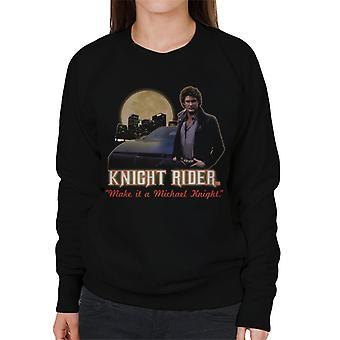 Knight Rider Make It A Michael Knight Women's Sudadera