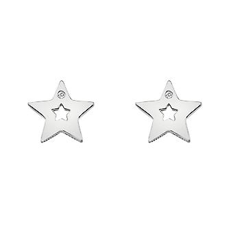 Hot Diamonds Sterling Silver Diamond Amulets Star Oorbellen DE587