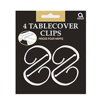 Tischtuchklammern Weiß 4 Stück