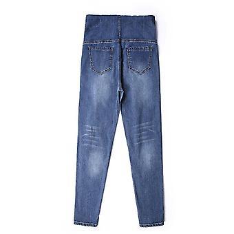 Schwangere Frauen Hose, elastische Taille Bauch Hose Baumwolle Jeans Hose
