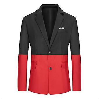 Men 's Suit Youth Casual Color Matching Single-breasted Slim Single Suit Jacket