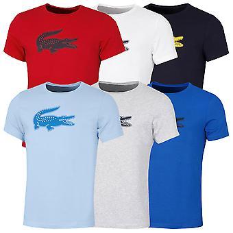 Lacoste Hombres 2021 Sport 3D impresión cocodrilo transpirable Wicking Jersey camiseta