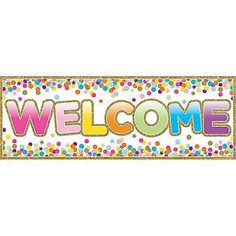 """Bannières magnétiques de bienvenue, 6"""" X 17"""", Confettis"""