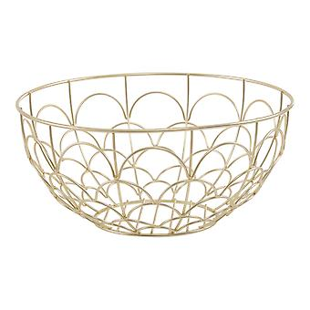 Vertex Deco Fruit Basket, Gold