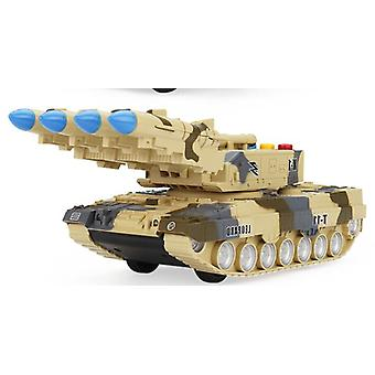 Children's Toy Tank, Simulation Model Tiger Military Armored Missile Sounding
