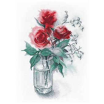 Oven Cross Stitch Kit - Roses and Snowberry