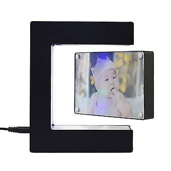E Shape Electronic Magnetic Levitation Floating Globe Digital Photo Frame