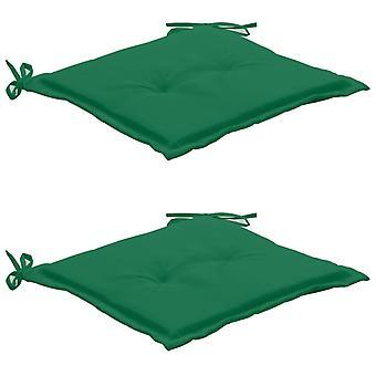 vidaXL puutarhatuolityyny 2 kpl. vihreä 50×50×3 cm