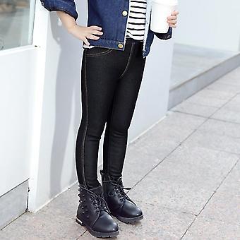Zimní teplé - fleecové džíny kalhoty, kalhoty pro & děti