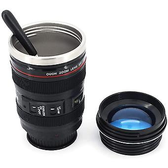 DZK Camera Lens Coffee Cup & Travel Mug, The Magic Suction Cup Creative Gift Cup Stainless Steel