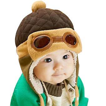 Winter warm Baby 4 Farben Mützen Pilot Caps Earflap Hut