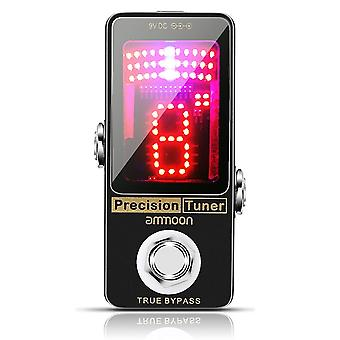 Chromatic tuner pedal large led display full metal shell with true bypass for guitar bass