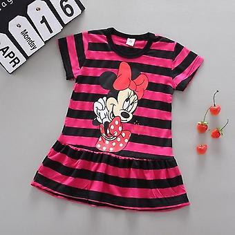 Tegneserie Minnie trykt, ærme bomuld kjole og pandebånd