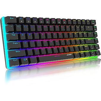 Mechanische Tastatur Gaming RGB Beleuchtung Blau Schalter 82 Taste, AJAZZ AK33 QWERTY Kabelgebundene
