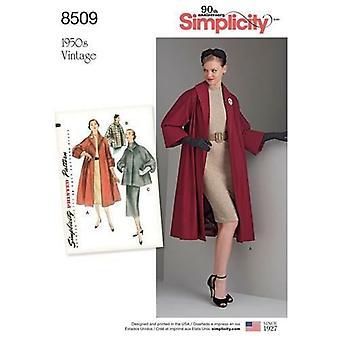 بساطة نمط الخياطة 8509 يفتقد السيدات معطف خمر / سترة حجم 14-22 UC