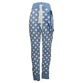 honeydew Women's Lounge Pant Polka Dot Polyester Stretch Blue