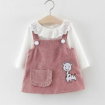 Детское платье, твердые вишни печати Дети Принцесса платья с Bowknot Vestidos